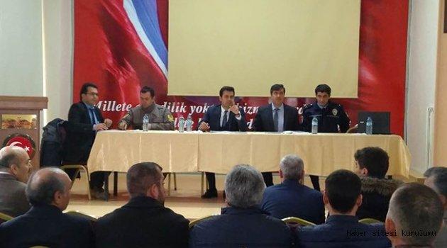 TUZLUKÇU'DA OKULLARDA GÜVENLİK VE MADDE BAĞIMLILIĞI TOPLANTISI
